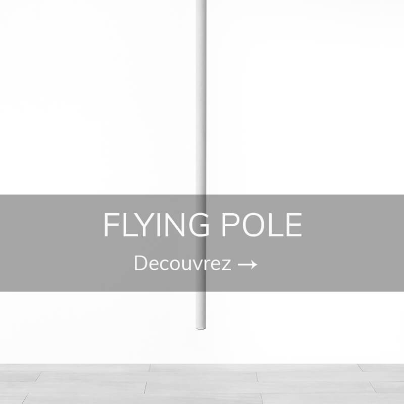 Flying pole barre volante