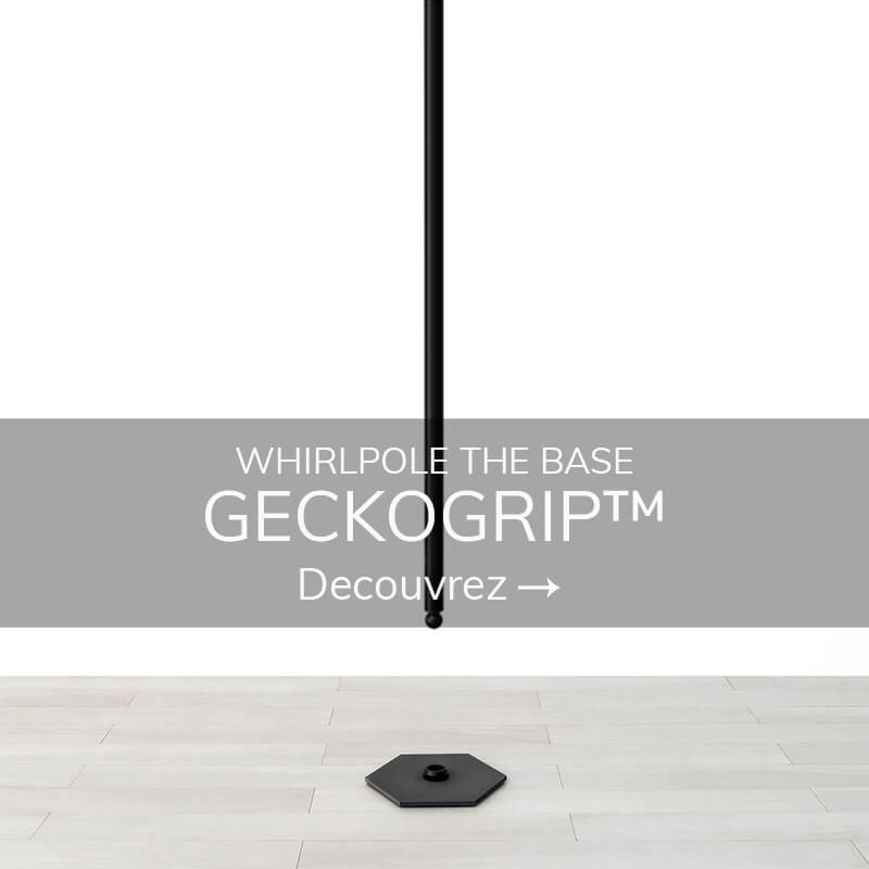 Swinging pole dance geckogrip