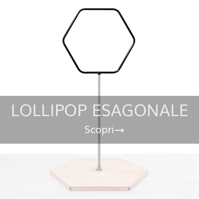 Accessori pedana pole dance lollipop esagonale