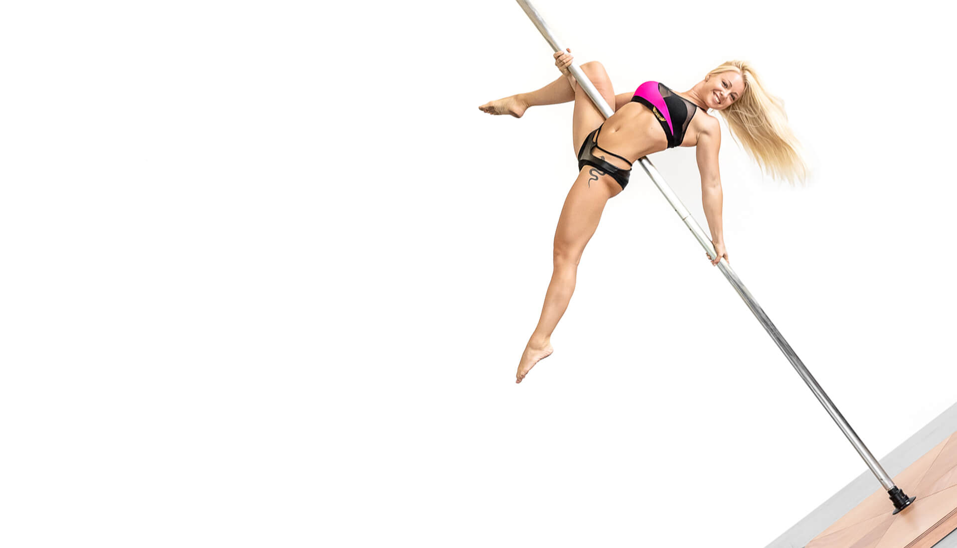 Pedana pole dance inox