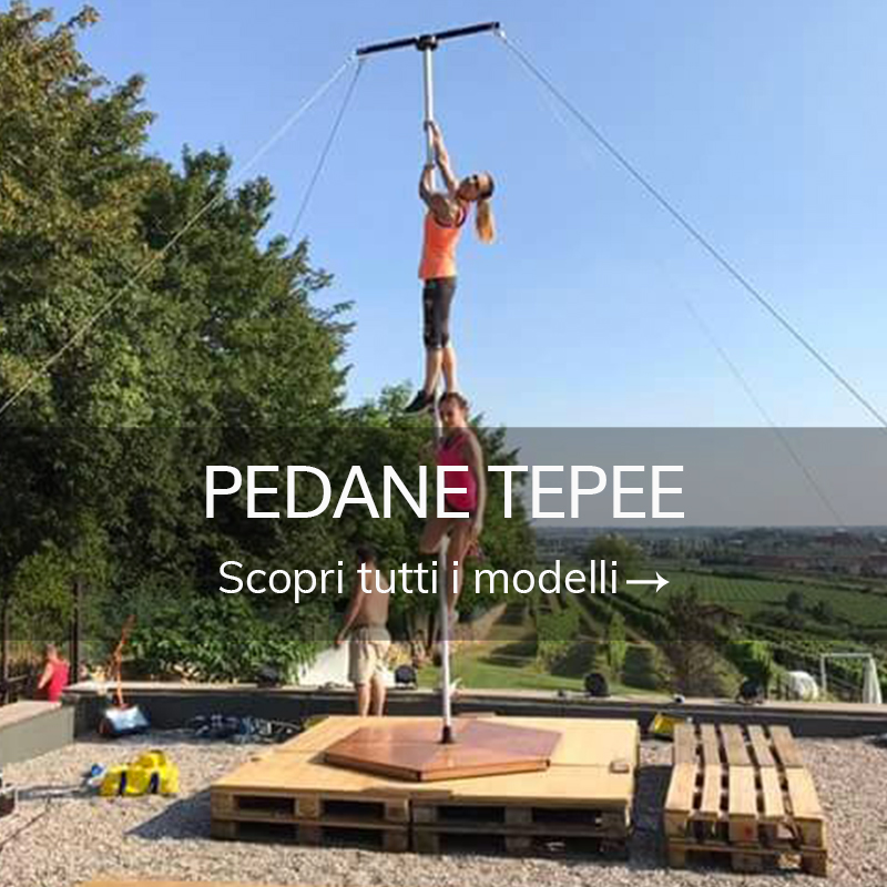 Attrezzature pole dance pedane